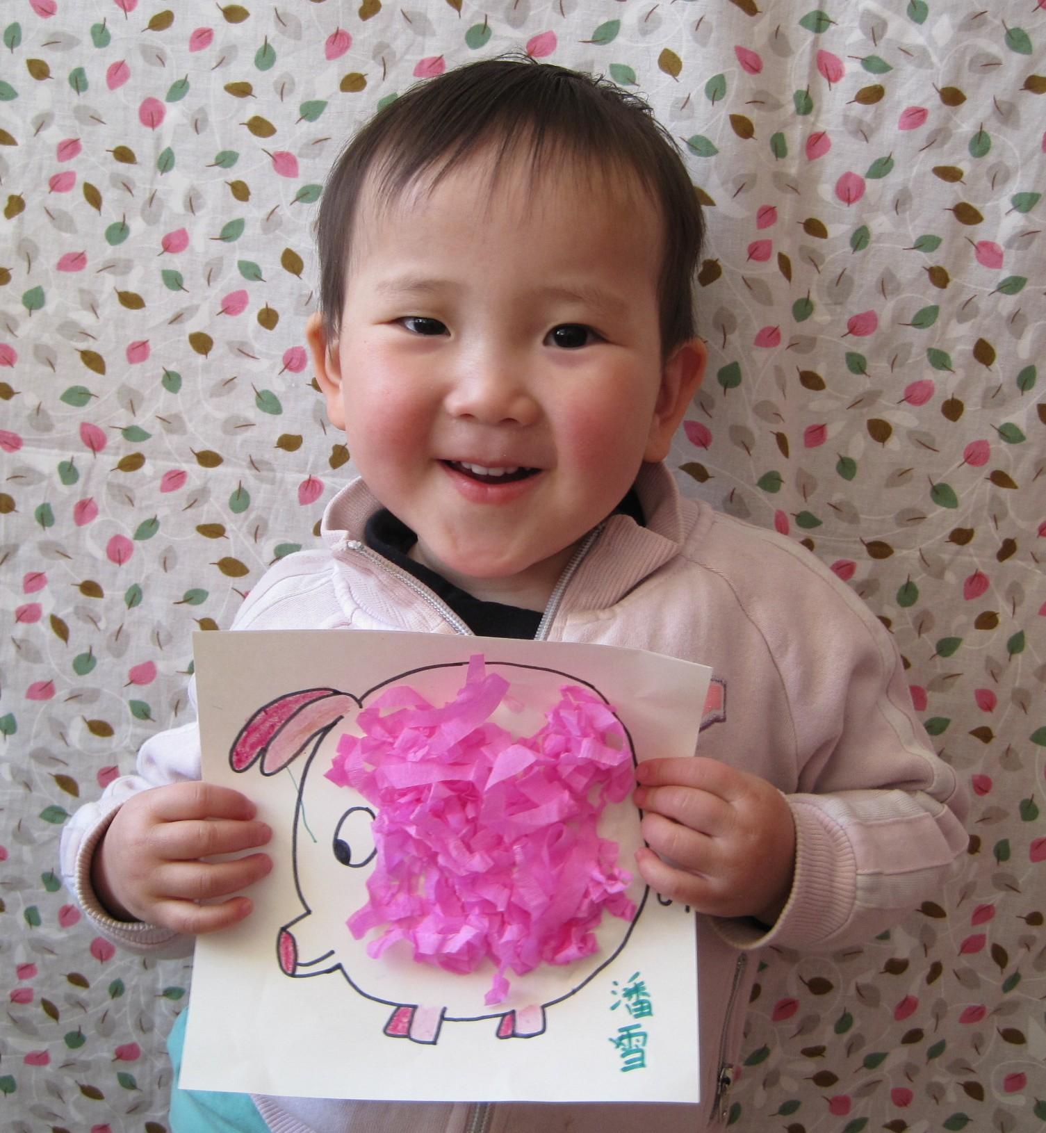 __ Pan Xue with pig art June 2011