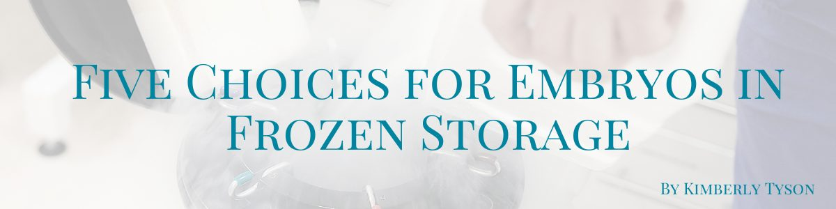 Five Choices for Embryos in Frozen Storage