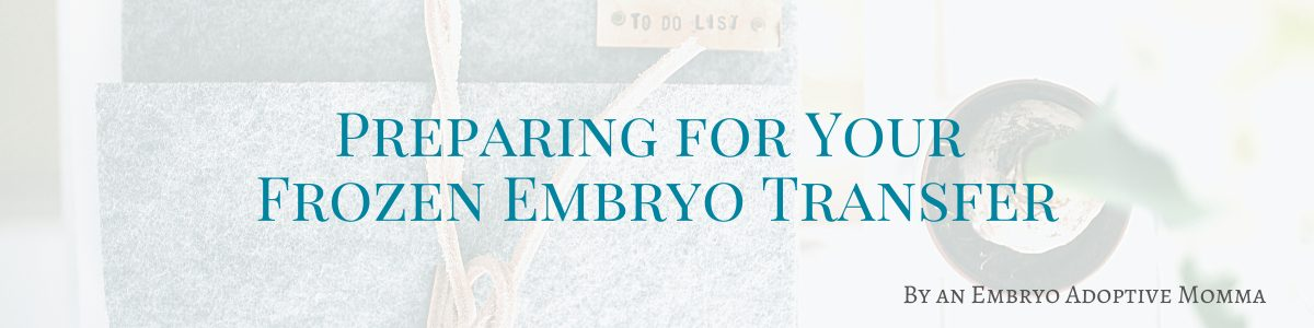 Preparing for a Frozen Embryo Transfer