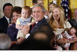 George W Bush expanding federal support for the research of embryo adoption stem cells
