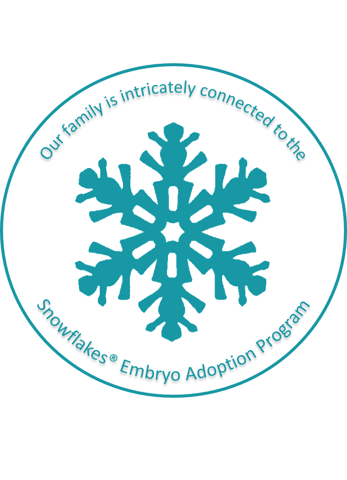 Snowflakes Sticker Badge